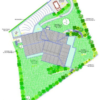 (English) Planimetria giardino muretto