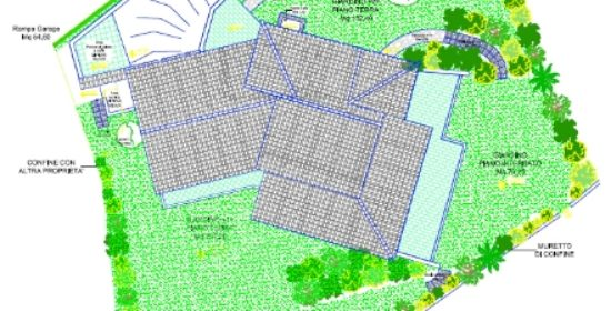 Planimetria giardino muretto